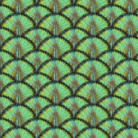 Peacock feathers fabric by crumpetsandcrabsticks on Spoonflower - custom fabric