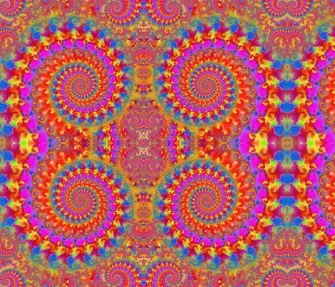 Crazy Pink Psychedelic Pattern fabric by hippygiftshop on Spoonflower - custom fabric