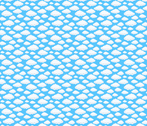 watercolor clouds fabric by kostolom3000 on Spoonflower - custom fabric