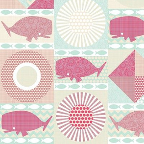 geo whales pink small