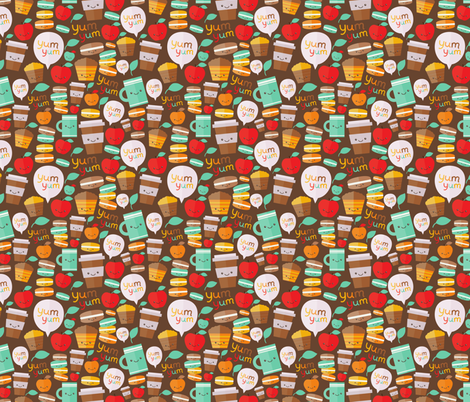 yum yum fabric by kostolom3000 on Spoonflower - custom fabric