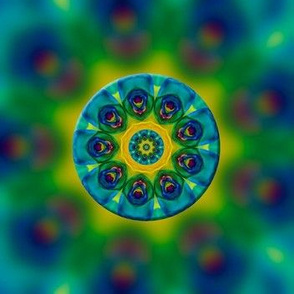 Rainbow Rose Kaleidoscope Fractal