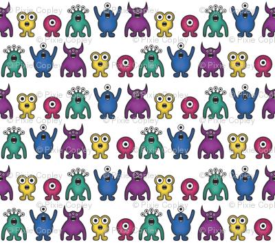 Alien Monster Rainbow Pattern