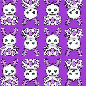 Kawaii Purple Bunny Pattern