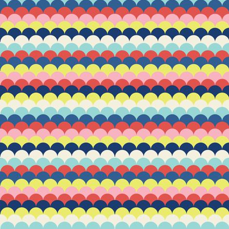 Stripe Fish Scales fabric by blackbirdhotel on Spoonflower - custom fabric