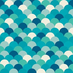 Teal Fish Scales
