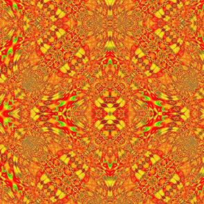 Orange Rasta Pattern (Large Slant)