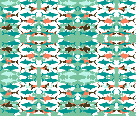 Shadow Shark! fabric by bananana on Spoonflower - custom fabric