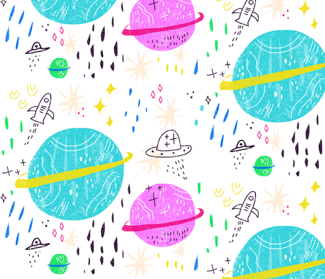 neiko_Ng_Space fabric by neiko on Spoonflower - custom fabric