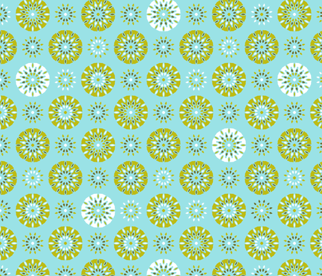 Celebrate Verde on Blue fabric by inscribed_here on Spoonflower - custom fabric