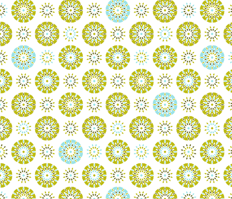 Celebrate Verde on White fabric by inscribed_here on Spoonflower - custom fabric