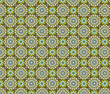 Delightful Verde Mosaic fabric by inscribed_here on Spoonflower - custom fabric