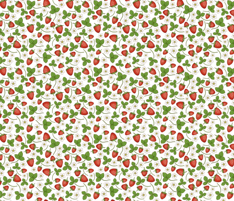 Strawberries fabric by hazel_fisher_creations on Spoonflower - custom fabric