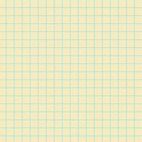 Starlight Geometric Grid - Pale Blue on Cream