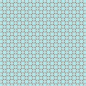 Hugs and Kisses (# 8) - (Pale Blue & White Crosses and  Brown, White and Pale Blue Noughts)