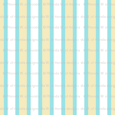 Starlight Stripes - Wide White and Cream on Pale Blue Narrow