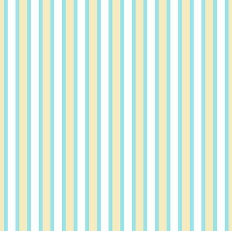 Starlight Stripes - Wide White and Cream on Pale Blue Narrow fabric by rhondadesigns on Spoonflower - custom fabric