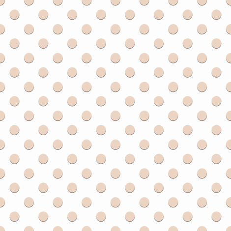 Tiny Ecru Dots on White fabric by anniedeb on Spoonflower - custom fabric