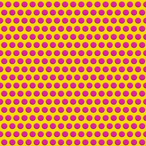 Tiny Hot Pink Dots on Yellow