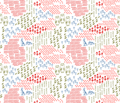 Woodland Wondeerland fabric by janetdrummond on Spoonflower - custom fabric
