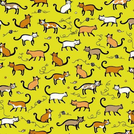 Kittie with String fabric by sheena_hisiro on Spoonflower - custom fabric