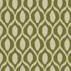 ikat olive and tan-ch