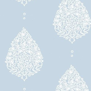 Moroccan Paisley Beach House Blue white