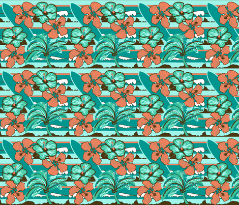 Retro Surfer fabric by lucy_autrey_wilson on Spoonflower - custom fabric