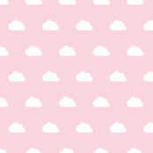 Clouds white on pink