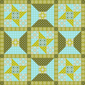 Winding Cotton Verde Quilt