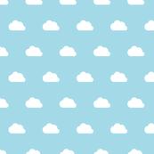 Clouds white on aqua