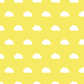 Clouds white on lemon