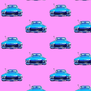 Tiitu's cadillac, bubblegum pink background
