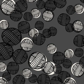 yarn fabric //  yarn knitting design andrea lauren illustration - charcoal