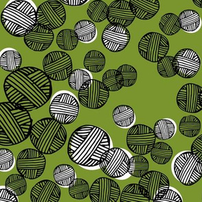 yarn fabric //  yarn knitting design andrea lauren illustration - moss green