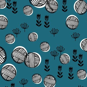 yarn fabric //  yarn knitting design andrea lauren illustration - bondi blue