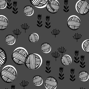 Yarn Balls - Charcoal by Andrea Lauren