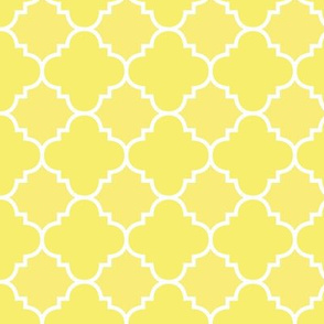 Yellow Quatrefoil