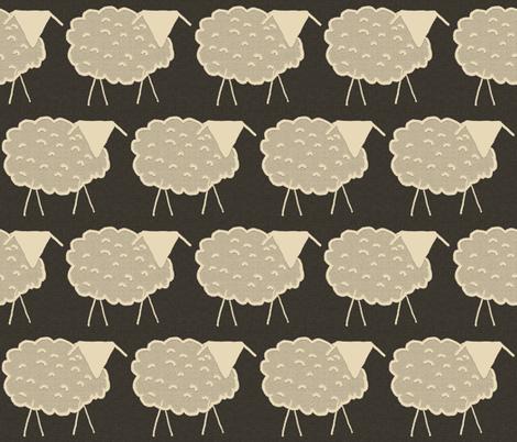 Ecru Ewes in Farmer Brown's Field fabric by anniedeb on Spoonflower - custom fabric