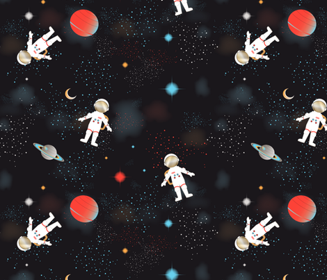 Space Station Coordinate (Cosmos) fabric by vannina on Spoonflower - custom fabric