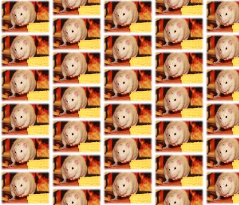 Fancy Rat and Corn fabric by rattieworld on Spoonflower - custom fabric