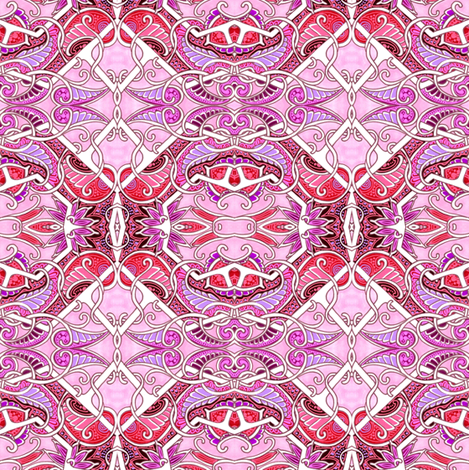 Pink Paisley Gavotte A Lot fabric by edsel2084 on Spoonflower - custom fabric