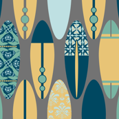 Surfboards on Gray