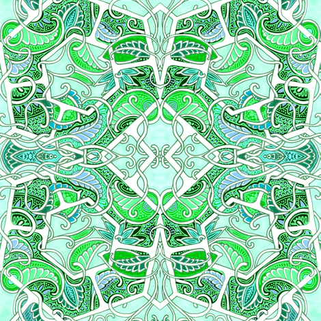 Ring Around the Paisley fabric by edsel2084 on Spoonflower - custom fabric