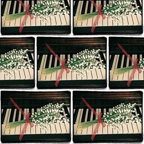 Lily of the Valley on Piano Keys