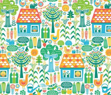 Cottage Garden  fabric by studio_amelie on Spoonflower - custom fabric