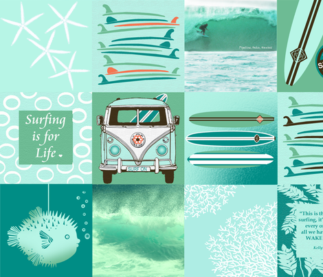 The Best Surf Themed Quilt Ever fabric by honoluludesign on Spoonflower - custom fabric