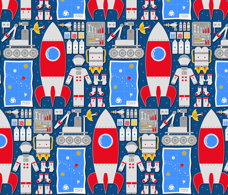 Cosmic baggage fabric by analinea on Spoonflower - custom fabric