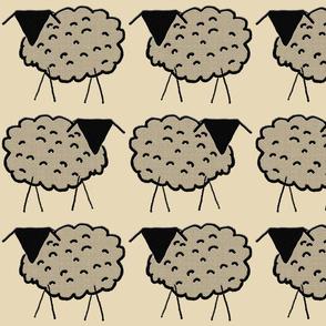 Ewes in Ecru Fields