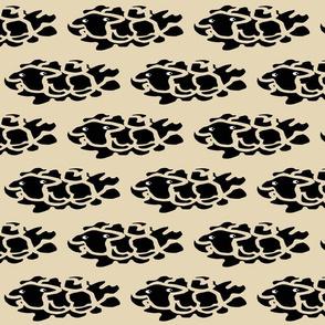 Small Black Sheep in Ecru Skies